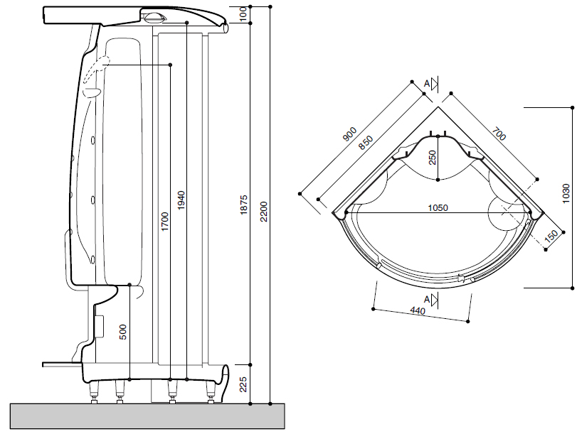 Схема кабины: