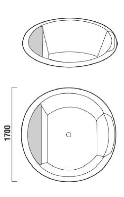 Ванна акриловая 216;170 Teuco Naos 554 GXL
