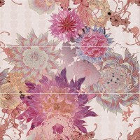Decor Flower ORO Siena malva Панно (из 3-х пл) 75x75